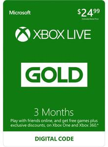 Xbox Live Gold 3 Month (Digital Code) + 3 Month Free