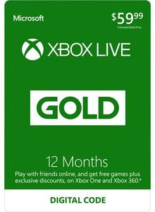 Xbox Live 12 Month Gold (Physical Card) + $2 Rakuten Super Points