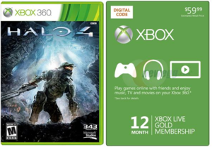 Halo 4 + Xbox LIVE 12 Month Gold Membership (Xbox 360)
