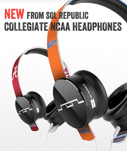 Sol Republic Tracks HD Headphones NCAA Collegiate series with Microphone