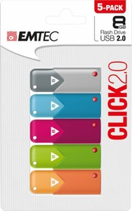Emtec Click 8GB USB 2.0 Flash Drives (5 Pack)