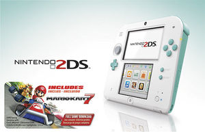 Nintendo 2DS (Sea Green) + Mario Kart 7
