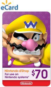 Nintendo $70 eShop Gift Card (Digital Code)