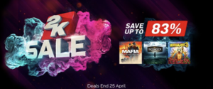 Green Man Gaming Sale: 2K Games Spring Sale