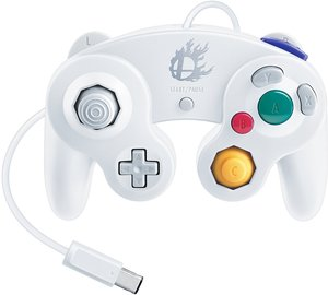 Super Smash Bros. White Classic Gamecube Controller