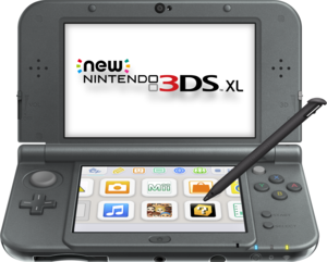 New Nintendo 3DS XL Black (Refurbished) + $15 Gift Card