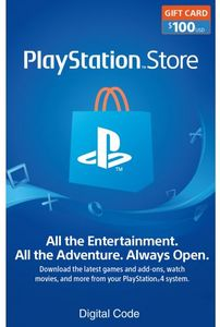 $100 PlayStation Store Gift Card (Digital Code)