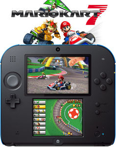 Nintendo 2DS Mario Kart 7 Bundle Blue (Refurbished)