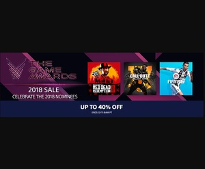 PlayStation Store: The Game Award Sales