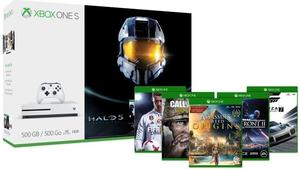 Xbox One S 500GB Ultimate Halo Bundle + Call of Duty World War II + Free 1 Game