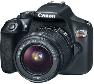 Canon Rebel T6 DSLR Camera with 18-55mm and 75-300mm Lenses (Refurbished)