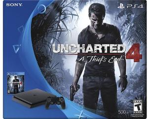PlayStation 4 Slim Uncharted 4 500GB + Extra Wireless Controller