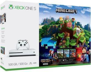 Xbox One S 500GB Minecraft Adventure Bundle