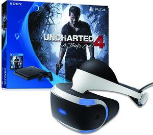 PlayStation 4 Slim Uncharted 4 Bundle + Extra Controller (Wave Blue)