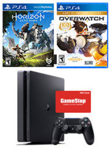 PlayStation 4 Slim 1TB + Overwatch + Horizon Zero Dawn + $50 Gift Card