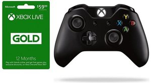 Xbox Live 12 Month Card + Xbox One Controller