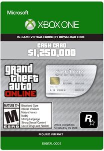 Great White Shark Cash Card ($1,250,000 - Xbox One)