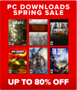 GameStop PC Gaming Spring Sale