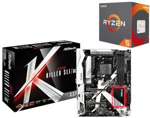 AMD Ryzen 5 1600X Desktop Processor + ASRock X370 Killer Motherboard