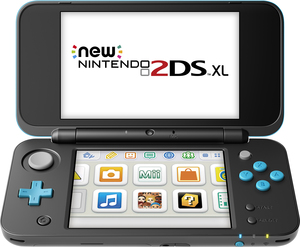 New Nintendo 2DS XL Black/Turquoise + Mario Kart 7 (Pre-Installed)