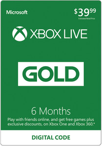 Xbox Live Gold 6 Months (Digital Code) + Free Rainbow Six: Siege