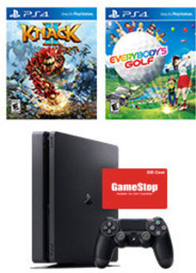 PlayStation 4 Slim 1TB + Knack 2 + Everybody's Golft + $50 Gift Card
