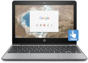 HP Chromebook 11-v025wm Touch, Celeron N3060, 4GB RAM, 16GB eMMC (Refurbished)
