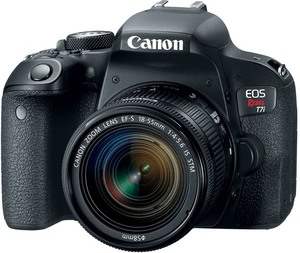 Canon Rebel T7i DSLR with 18-55m Lens
