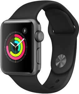 Apple Watch Series 3 GPS + Cellular 38mm Sport Band (White Aluminum)