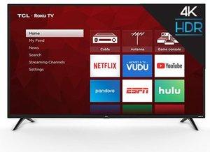 TCL 55S421 55-inch 4K HDR Roku Smart LED TV (Refurbished)