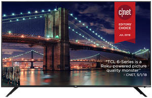 TCL 75R617 75-inch 4K HDR Roku Smart LED TV