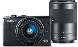Canon EOS M100 Mirrorless Digital Camera + 15-45mm & 55-200mm Lenses (Refurbished)
