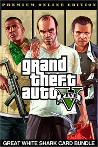 Grand Theft Auto V Premium Online Edition & Great White Shark Card Bundle (Xbox One Download) - Gold Required