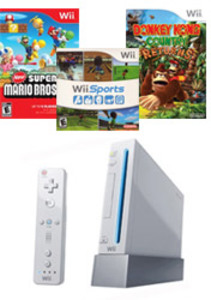 Nintendo Wii Console + 3 Games