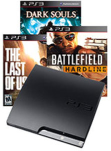 PlayStation 3 160GB Console +  Last of Us + Battlefield Hardline + Dark Souls (Pre-owned)